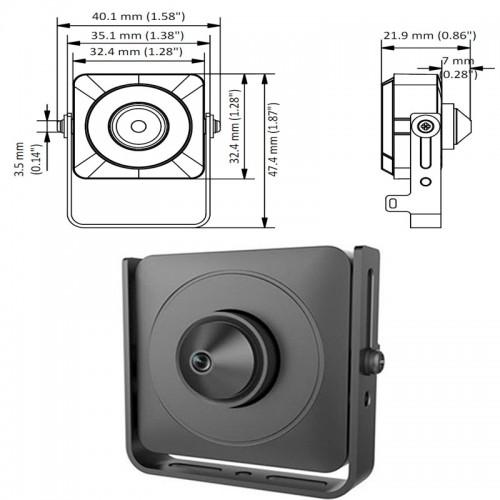 HD-TVI 2.0 Mpx 3.7mm Мини Камера HIKVISION
