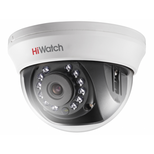 HD-TVI Куполна Камера HiWatch DS-T101, HD 720p резолюция, 2.8mm обектив, IR 20m