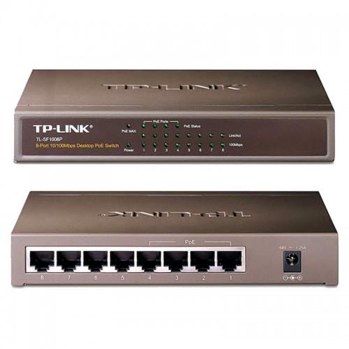 8-портов PoE суич за захранване на IP камери за видеонаблюдение, TP-Link