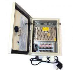 Захранващ блок 12VDC/5A за видеонаблюдение, влагозащитен