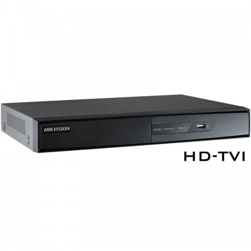 HD-TVI Видеорекордер, ПЕНТАБРИД, 8-канален, Hikvision - 200fps@HD720p