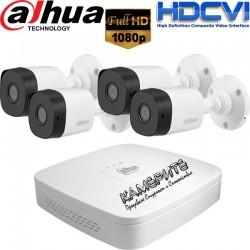 Комплект за видеонаблюдение Dahua с 4 бр. HDCVI Булет Камери и Рекодер - FULL HD 1080p резолюция