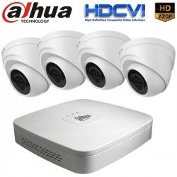 Комплект за видеонаблюдение Dahua с 4 бр. HDCVI Куполни Камери и Рекодер - HD 720p резолюция