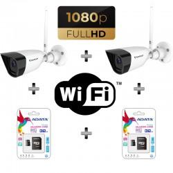 Комплект от 2бр. Безжични Wi-Fi Кaмери VSTARCAM с Вграден Микрофон и Карта Памет 32GB
